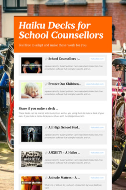 Haiku Decks for School Counsellors
