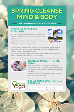 Spring cleanse mind & body