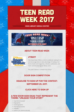 TEEN READ WEEK 2017