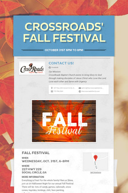 CrossRoads' Fall Festival