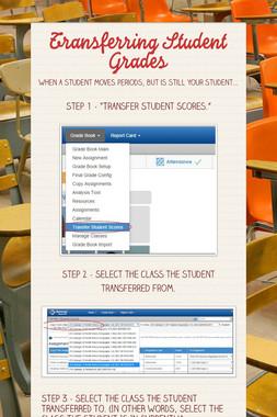 Transferring Student Grades