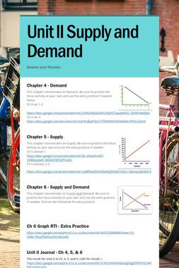 Unit II Supply and Demand