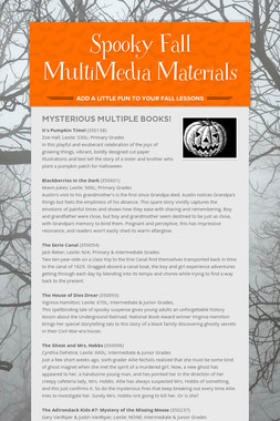 Spooky Fall MultiMedia Materials