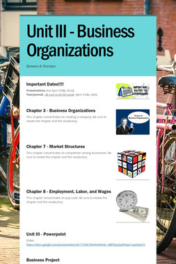 Unit III - Business Organizations