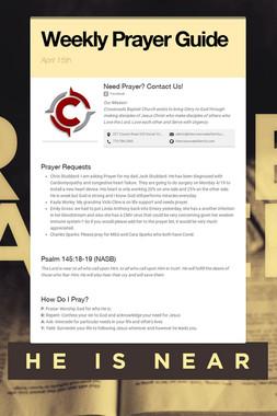 Weekly Prayer Guide