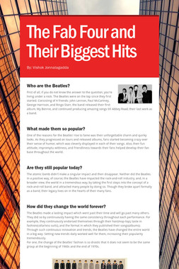 The Fab Four and Their Biggest Hits
