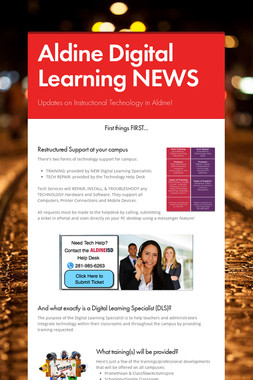 Aldine Digital Learning NEWS