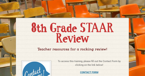 8th Grade STAAR Review