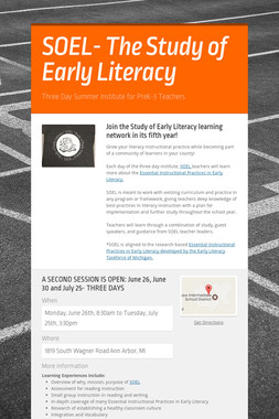 SOEL- The Study of Early Literacy