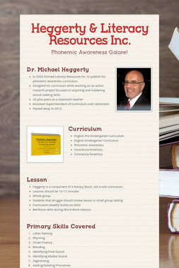 Heggerty & Literacy Resources Inc.