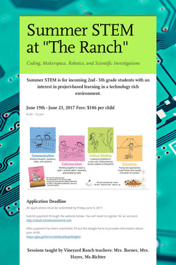 "Summer STEM at ""The Ranch"""