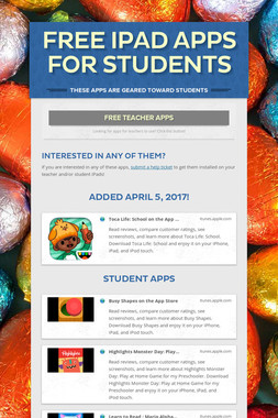 Free iPad Apps for Students