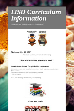 LISD Curriculum Information
