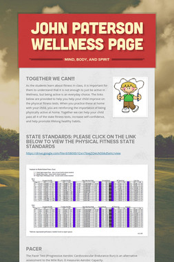 John Paterson Wellness Page
