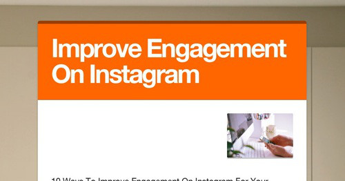10 Ways To Improve Engagement On Instagram For Your Business   eGoodMedia