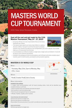 MASTERS WORLD CUP TOURNAMENT