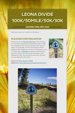 Leona Divide 100k/50Mile/50k/30K