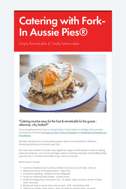 Catering with Fork-In Aussie Pies®