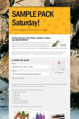SAMPLE PACK Saturday!