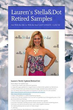 Lauren's Stella&Dot Retired Samples