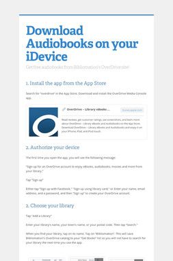 Download Audiobooks on your iDevice