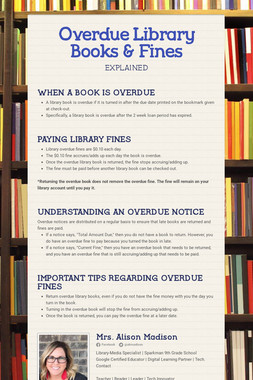 Overdue Library Books & Fines