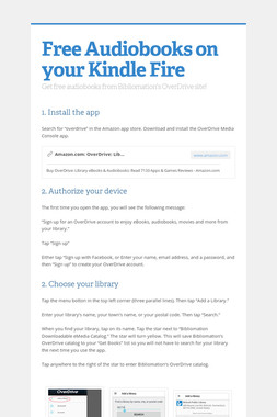 Free Audiobooks on your Kindle Fire