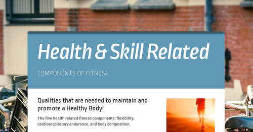 Health & Skill Related   Smore Newsletters for Education