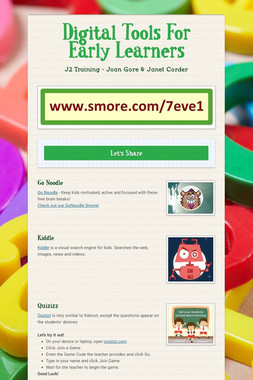 Tech Tools For Early Learners