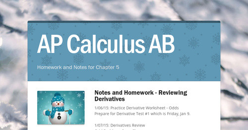 AP Calculus AB | Smore Newsletters for Education