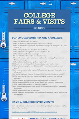 College Fairs & Visits