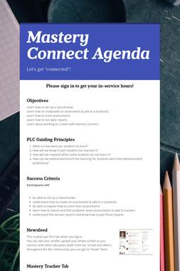 Mastery Connect Agenda