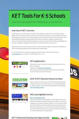 KET Tools For K-5 Schools
