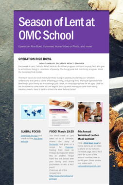 Season of Lent at OMC School