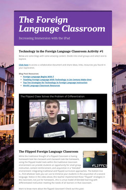 The Foreign Language Classroom