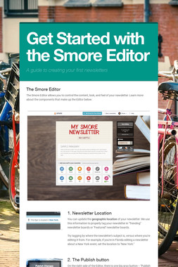 Get Started with the Smore Editor