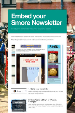 Embed your Smore Newsletter