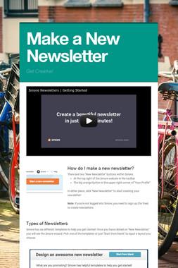 Make a New Newsletter