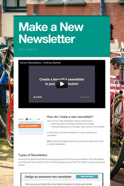 Make a New Newsletter