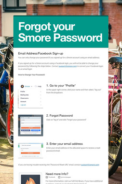 Forgot your Smore Password