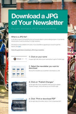 Download a JPG of Your Newsletter