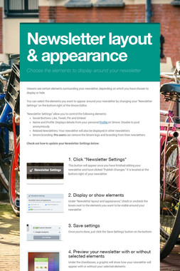 Newsletter layout & appearance