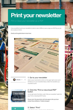 Print your newsletter