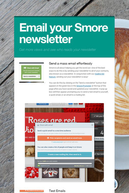 Email your Smore newsletter
