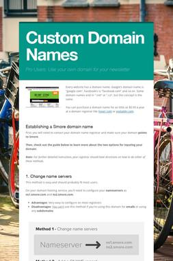 Custom Domain Names