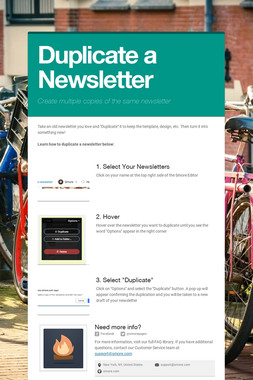 Duplicate a Newsletter