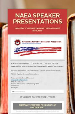 NAEA Speaker Presentations