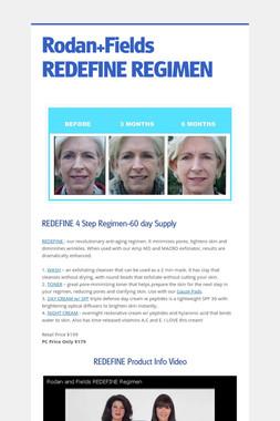Rodan+Fields REDEFINE REGIMEN