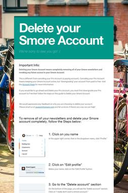 Delete your Smore Account