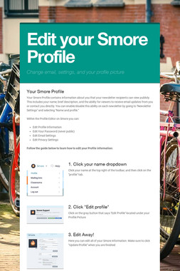 Edit your Smore Profile